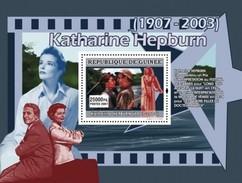 GUINEA 2007 SHEET KATHARINE HEPBURN ACTRESS CINEMA  Gu0771b