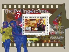 GUINEA 2007 SHEET THE STARS OF MUSIC LES STARS DE LA MUSIQUE SINGERS THE ROLLING STONES Gu0773a