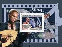 GUINEA 2007 SHEET THE STARS OF MUSIC LES STARS DE LA MUSIQUE SINGERS SINGER STING Gu0773b