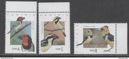 NAMIBIA, 2017, MNH, BIRDS, BARBETS, 3v