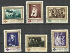 "Rumänien 2519-2524 ""6 Briefmarken Aus Der Nationalgalerie Bukarest "" Gestempelt, Mi. 8,00 - 1948-.... Républiques"