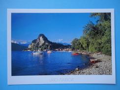 Caldè - Castelveccana - Varese - La Spiaggia Con Veduta Della Rocca - Varese