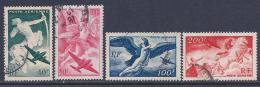 France, Scott # C18-21 Used Various Subjects, 1946-7 - Airmail