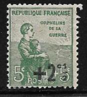 France, Scott # B13 Mint Hinged War Orphans, Surcharged, 1922, Gum Thin