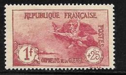 France, Scott # B22 Mint Hinged La Marseillaise, 1926, Gum Thin