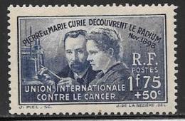 France, Scott # B76 Mint Hinged Marie Curie, 1938
