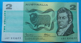 AUSTRALIA 2 DOLLARS ND 1985, Pick 43e. AUNC - XF, CLEAN AND CRISP PAPER, LGT 553077 - 1974-94 Australia Reserve Bank (paper Notes)