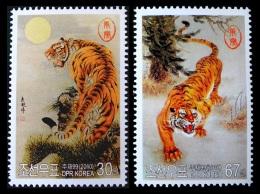 North Korea 2010 Mih. 5544/45 Fauna. Year Of The Tiger MNH ** - Korea (Nord-)