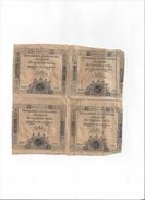 Lot De 4 Assignats De 15 Sols - Non Séparés - Loi Du 24 Octobre 1792 - Série 1650 - Assignats