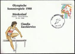 Korea 1988 / Olympic Games Seoul / Athletics, 100 Metres Hurdles / Bronze Medal Winner Claudia Zackiewicz, Germany - Zomer 1988: Seoel