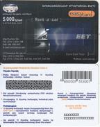 ARMENIA - EET Rent A Car, ArmenTel Prepaid Card 5000 AMD, Tirage 10100, Exp.date 30/10/06, Sample - Armenia