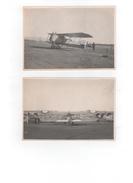 Quatre Photos Anciennes D'avions - Aviation