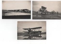 Trois Photos Anciennes D'avions - Aviation