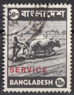 O17 Banglades 1976 (R) Farmer Contadino Buoi Perf. 14 E 1/2 X 15 Overprint SERVICE Used - Bangladesh