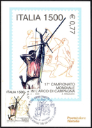 ARCHERY - ITALIA CORTINA D'AMPEZZO (BL) 2000 - CAMPIONATO MONDIALE TIRO CON L'ARCO DI CAMPAGNA - CARD POSTE ITALIANE
