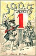 Année Date Millesime - 1905 - 1 Januar, Locomotive Enfants Poste Telégraphe - New Year
