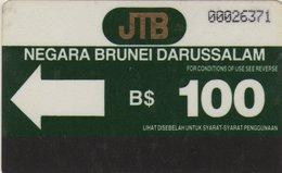 BRUNEI : BRN-04 : 100u  From 1st Issue  AUTELCA  Rare - Brunei