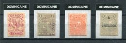 $ REPUBLIQUE DOMINICAINE > CLASSIQUES > 4 Exemplaires +/(+)/Obl Entre No 23 & 41 - Repubblica Domenicana