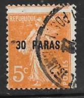 France Offices Turkey(Levant),Scott # 35 Used, Surcharged, 1902 - Levant (1885-1946)