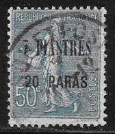 France Offices Turkey(Levant),Scott # 46 Used France Stamp, Surcharged, 1921 - Levant (1885-1946)