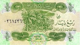 IRAQ 1/4 DINAR 1993 P-77a UNC  [IQ334a] - Iraq