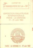 """CARNET 2102-C 8a Sabine De Gandon """"PHILEXFRANCE 82"""" Daté 29/12/80 Fermé. Parfait état Bas Prix RARE - Carnets"""