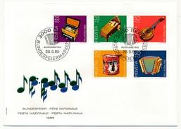 SUISSE - 6 Enveloppes FDC - Fête Nationale 1985 - Bundesfeir - Bern - 28/05/1985 - FDC