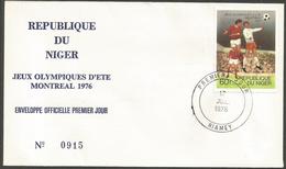 Niger 1976 366 FDC Football Jeux Olympiques Montréal - Niger (1960-...)