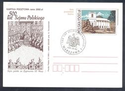 Poland Postal Staionery Card 1993: Fauna Eagle Adler Aigle Aquila; Sejm Parliament Architecture - Adler & Greifvögel