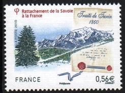 FRANCE 2010  UN (1) YT N°4441** Dentelé- Rattachement De La SAVOIE Traite De Turin1860 - 0.56€ - France