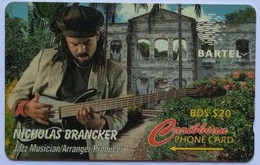 Barbados Phonecard B$20 Nicholas Branckner 125CBDD - Barbados