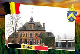 Postcard, REPRODUCTION, Municipalities Of Belgium, Ternat, Flemish Region 13 - Maps