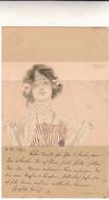Raphael Kirchner Su Post Card Used 1901 - Kirchner, Raphael