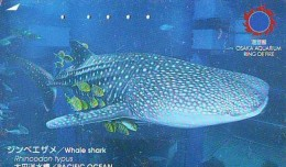 Télécarte Japon * REQUIN * HAIFISCH * SHARK * HAAI * VIS (210) BALEINE * WHALE * Phonecard Japan * FISH * TELEFONKARTE - Fish