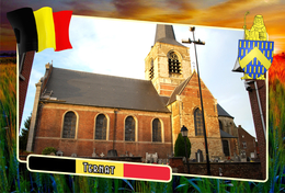 Postcard, REPRODUCTION, Municipalities Of Belgium, Ternat, Flemish Region 24 - Maps
