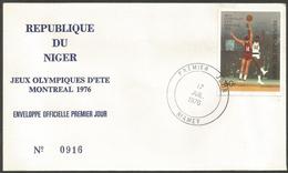Niger 1976 365 FDC Basket-ball Jeux Olympiques Montréal - Niger (1960-...)