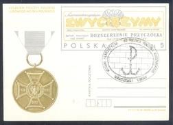 Poland Postal Staionery Card 1984: Fauna Eagle Adler Aigle Aquila, World War II WW; ZWYCIEZYMY - Gazetta Army Newspaper - Adler & Greifvögel