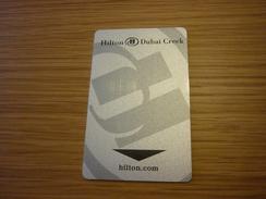 U.A.E. Dubai Hilton Creek Hotel Room Key Card (Thrifty Car Rental) - Hotelkarten