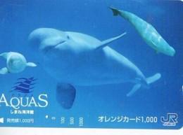 Télécarte Japon * DAUPHIN * DOLPHIN (951)  Japan () Phonecard * DELPHIN * GOLFINO * DOLFIJN * - Dolphins