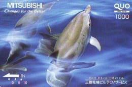 Télécarte Japon * DAUPHIN * DOLPHIN (953)  Japan () Phonecard * DELPHIN * GOLFINO * DOLFIJN * - Dolfijnen