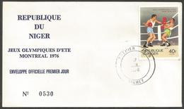 Niger 1976 364 FDC Boxe Jeux Olympiques Montréal - Niger (1960-...)