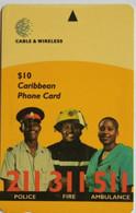 Barbados Phonecard B$10 Emergency Service 323CBDB - Barbados