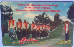 Barbados Phonecard B$40 Defense Force Band 88CBDA - Barbados
