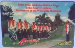 88CBDA  B$40 Defense Force Band No Slash C/n - Barbades