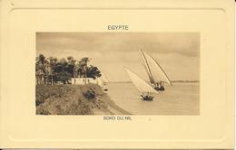 EGYPTE BORD DU NIL Animée Et Bateau à Voile