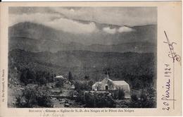 Cilaos - Eglise De N.D. Des Neiges Et Le Piton Des Neiges - Réunion