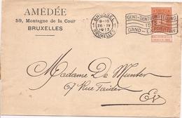 Brief Uit 1913 Met Reclamestempel Gent-Tentoonstelling - Documents De La Poste