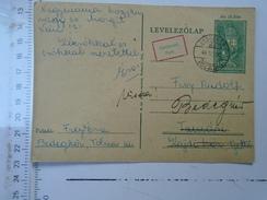 D150073 Hungary Postal Stationery -  1944 -Bedegkér - Retour -Elköltözött Parti