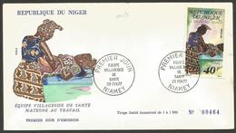 Niger 1977 392 FDC Santé Matrone Au Travail - Niger (1960-...)