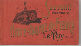 """17 / 5 / 296  - CARNET  """"  SOUVENIR  D'UNE  VISITE  A  N. D.   DE  FRANCE  -  LE  PUY  ( 43 ) - Cartoline"""